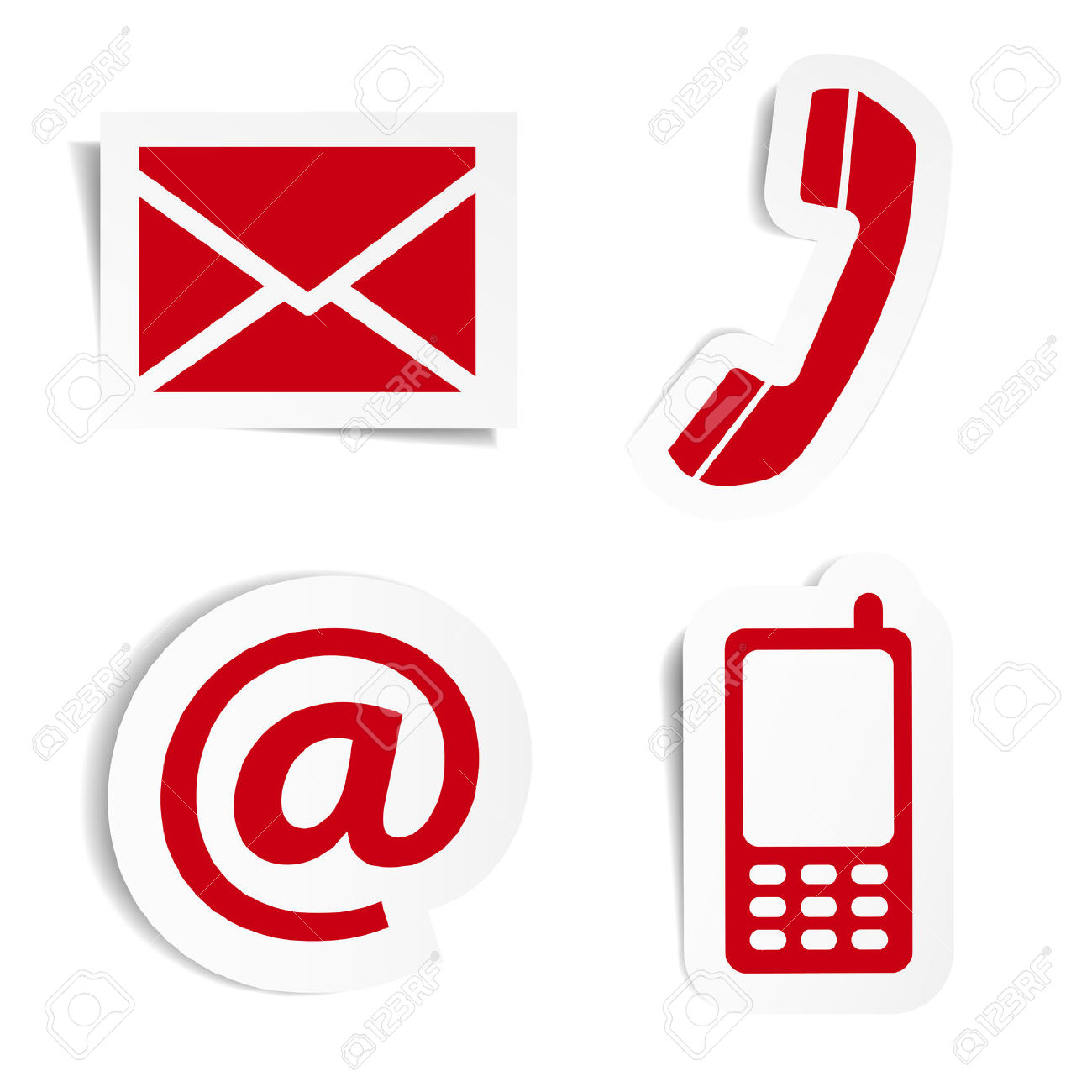 Contact Us Red >> 24549414-website-and-internet-contact-us-red-icons-set-and