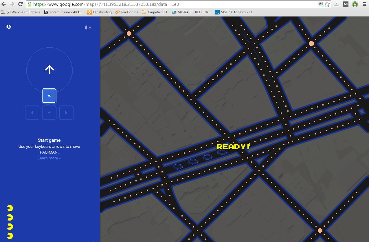 PacMan GoogleMaps2